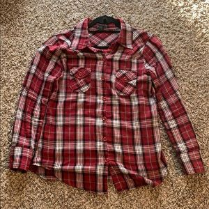 Women's Forever 21 Red and black plaid shirt